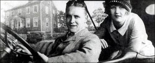 F. Scott and Zelda Fitzgerald in front of their rented South Compo Road home. (Photo courtesy of Westport Historical Society)