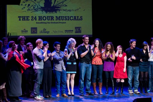"""The cast and crew of """"24 Hour Musical"""" - Justin Paul is in the lightest shirt, near the left (Photo by Kerry Long - www.kerrylong.com)"""