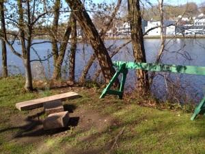 Westport Library Riverwalk destruction