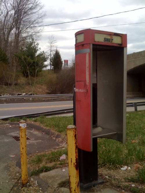 SNET pay phone - Merritt Parkway exit 42, Westport, CT