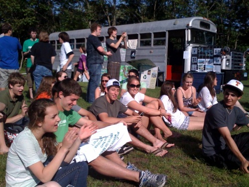 An eco-friendly crowd enjoys Westport's Eco-Fest.