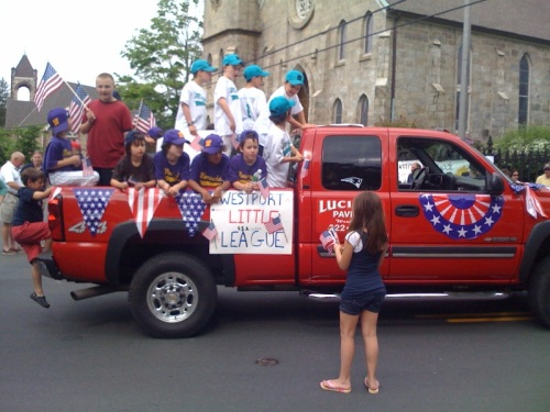Westport's Memorial Day parade is not complete without Little Leaguers.