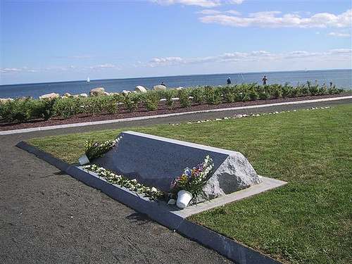 The 9/11 memorial at Sherwood Island State Park
