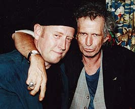 Charlie Karp (left) and Keith Richards