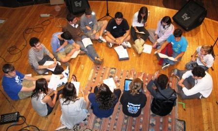 Youth Commission members meet at Toquet Hall, following the recent scavenger hunt.