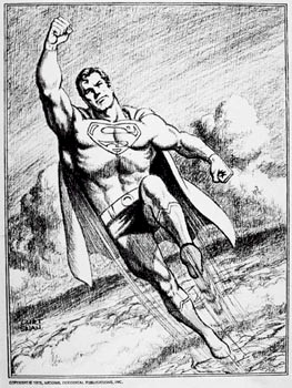 "Westporter Curt Swan drew the ""Superman"" comics for many years.  This illustration is part of the Westport Schools Permanent Art Collection."