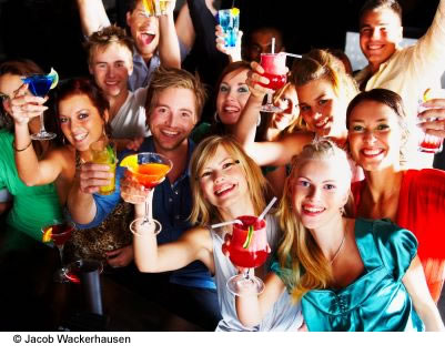 Teenagers are bombarded with media messages extolling drinking