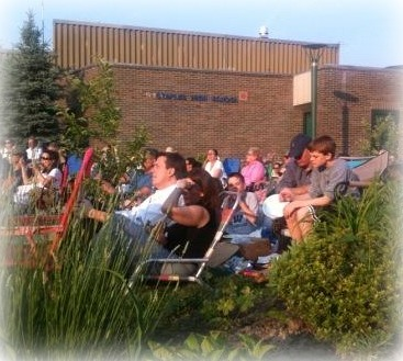 Parents support many activities -- including the annual pops concert in the Staples courtyard.