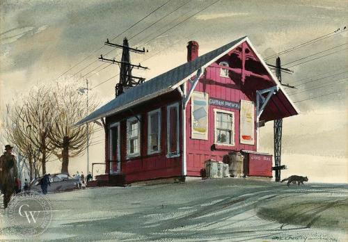 """Green's Farms Station,"" by Hardie Gramatky."