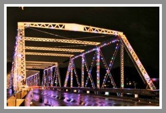 Holiday lights - Cribari Bridge
