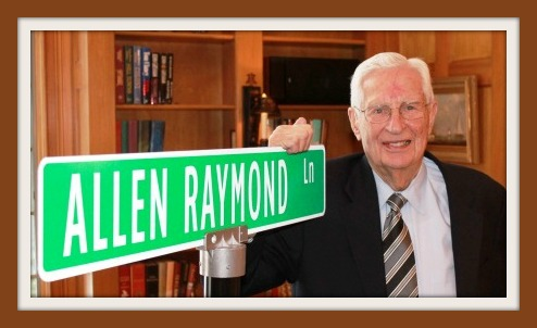 Allen Raymond: The man, and his sign.