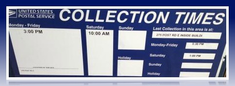 Post Office Collection Times >> Posted Times 06880