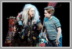 "Adam Riegler (right) in ""The Addams Family."" (Photo/Joan Marcus for Broadway.com)"