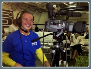 Kelsey Shockey handled a camera at the 2012 graduation. Today, she gets her own diploma.