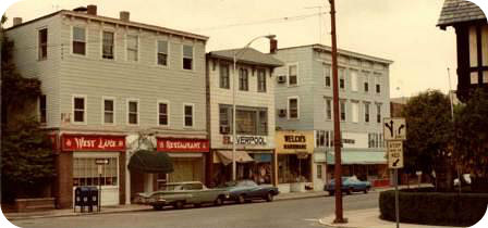 Main Street 1976, by Fred Cantor. West Lake (left) had just closed.