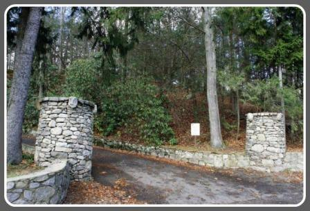 The entrance to the Baron's South property -- one of many Westport planning issues.