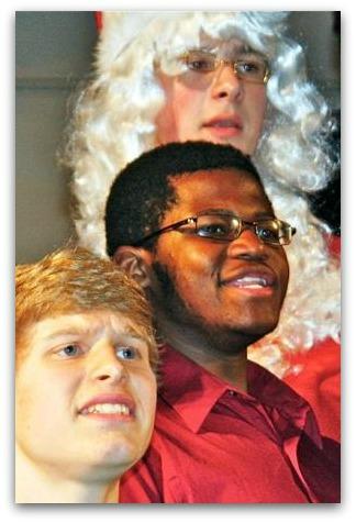 Mikell Washington (center) in Staples High School's 2011 Candlelight Concert. (Photo/Lynn U. Miller)