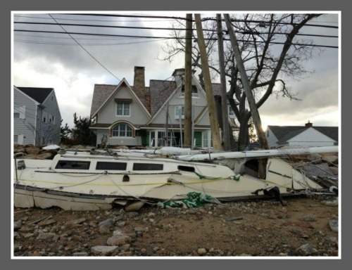 A small part of the great damage on Saugatuck Shores. (Photos/Inklings staff)