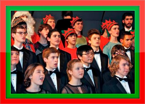 "Santa, elves, the choir, chorus, chorale and orchestra joined in a magnificent ""Hallelujah Chorus"" finale. (Photo by Lynn U. Miller)"