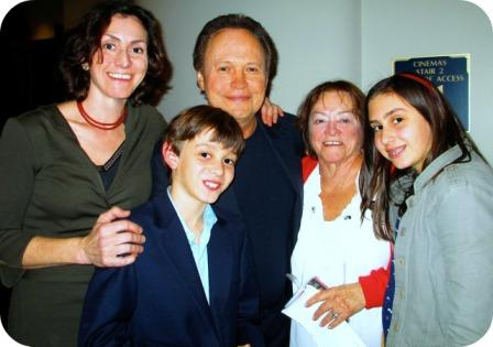 "Lisa Addario and Billy Crystal at the premiere of ""Parental Guidance"" last week with Lisa's son Augie, mother Camille, and daughter Lulu."