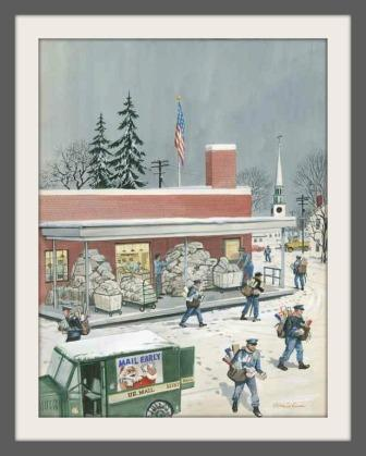 "Stevan Dohanos' ""Christmas in Westport"" is one of many local works in the Permanent Arts Collection."