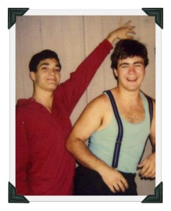 Adam Marcus (right) and his brother Kipp, in their Staples days.