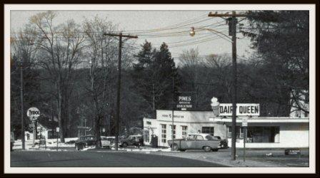 This is not the Dairy Queen we're looking for. The photo above shows what is now the entrance to Playhouse Square. This DQ later became the Crest Drive-In. We're looking for the Dairy Queen that turned into Swanky Frank's, near Barnes & Noble.