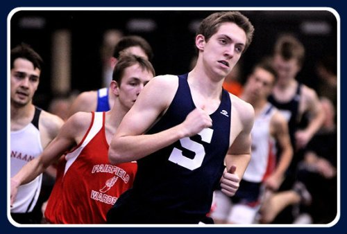 Henry Wynne, earlier this year in an indoor race.  (Photo courtesy of MSG Varsity)