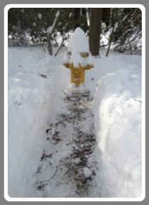 Fire hydrant shoveled out