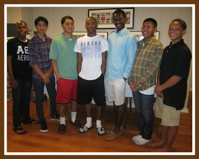 The current ABC scholars (from left): Adrian, Christopher, Ruben, Rhyse, Khaliq, Luis and Thomas.