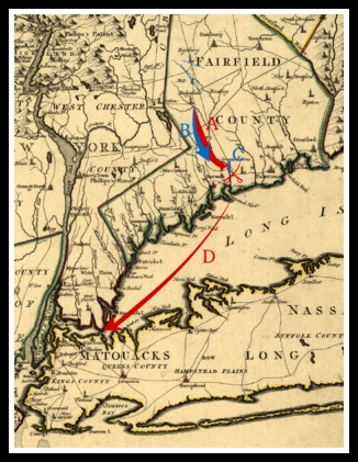 British forces landed at Compo Beach, marched to Danbury, marched back south and -- after the Battle of Compo Hill -- retreated to Long Island.