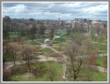 On Friday afternoon, Boston Common was deserted.
