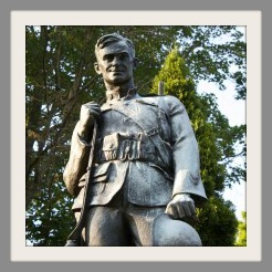 The doughboy statue on Veteran's Green is part of Westport's art and sculpture collection.