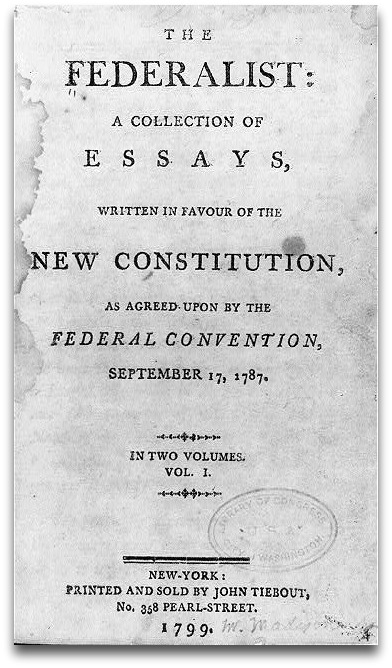 "The 85 essays that make up the Federalist Papers were written by Alexander Hamilton, James Madison and John Jay -- and published under the pseudonym ""Publius."""