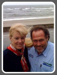 During a nor'easter, Gail Cunningham Coen welcomed Waveland mayor Tommy Longo to her Compo Beach home.
