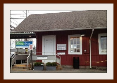 Green's Farms train station.