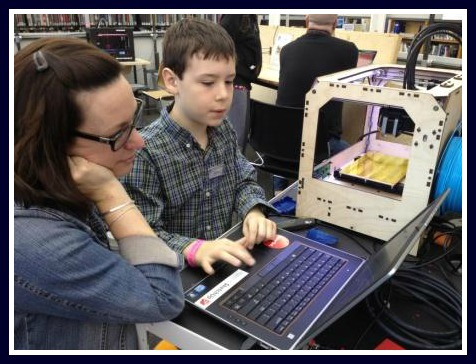 Young people teach -- and learn from -- older ones in the MakerSpace.