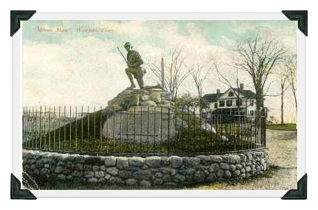 The Minuteman statue in 1912 -- 2 years after its dedication.