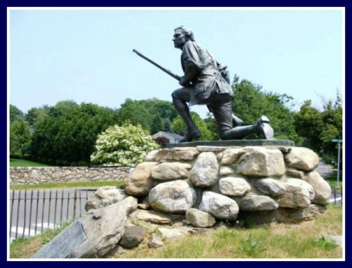 The Minuteman statue today.