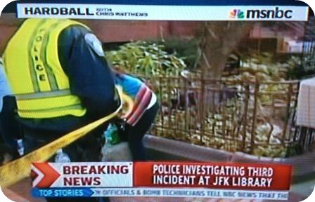 """A shot of MSNBC's """"Hardball,"""" during Jeff Clachko's interview."""