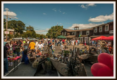 From Bridge Square to Railroad Place -- and everywhere else -- Slice of Saugatuck is packed. (Photo/Terry Cosgrave)