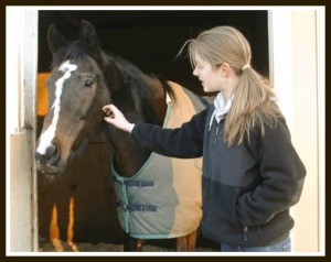 Taking care of a horse can be very therapeutic. (Photo from Zoar Ridge, not taken during a therapy session.)