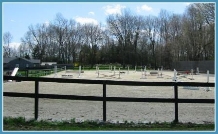 One of the riding rings at Zoar Ridge.