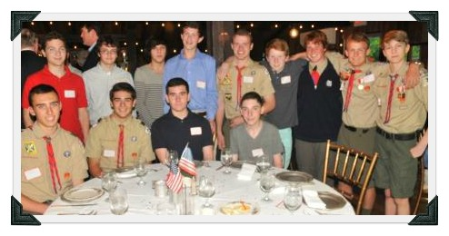 A small group of the many Boy Scouts who honored Jack Berry last year.