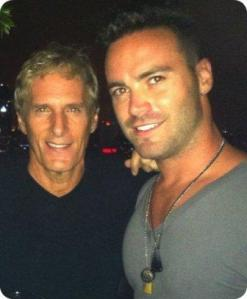 Michael Bolton and Drew McKeon in Singapore.