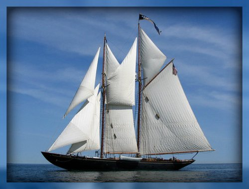 The 126-foot, 8-mast schooner Virginia.