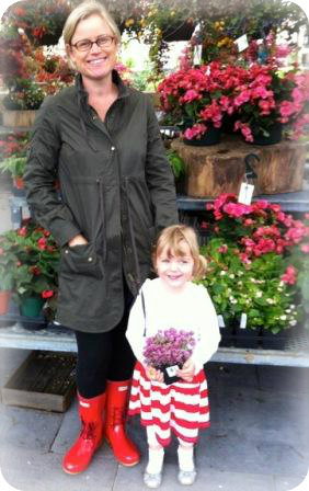 Alli and Capri, with holiday plants at Terrain.