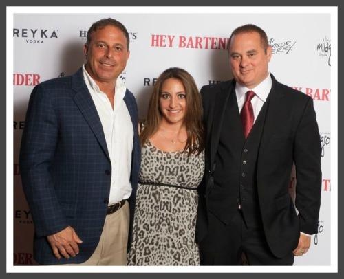 "(From left) Steve Carpentieri, Susan Bedusa and Doug Tirola at the ""Hey Bartender"" premiere."