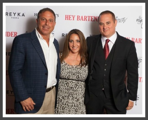 "(From left) Steve Carpentieri, Susan Bedusa and Doug Tirola at the ""Hey Bartender"" premiere."