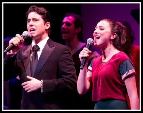 """Jersey Boy"" John Lloyd Young performs ""What I Did For Love"" with Staples Player Michelle Pauker."